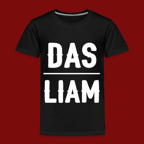 DasLiam T-Shirt Weiß auf Schwarz Jungen - Kinder Premium T-Shirt