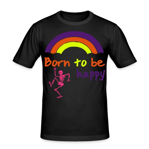 Born to be happy (male) - Men's Slim Fit T-Shirt