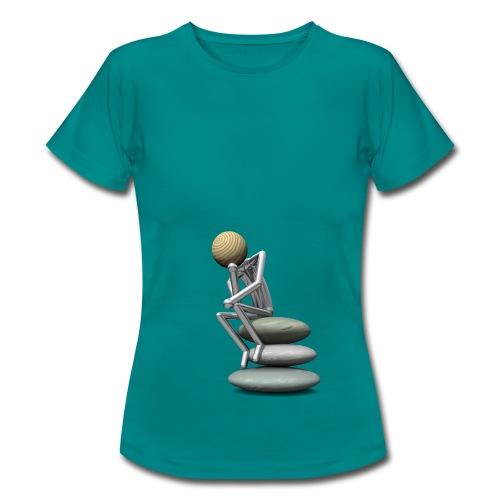 Holzkopf als Denker T-Shirts - Frauen T-Shirt