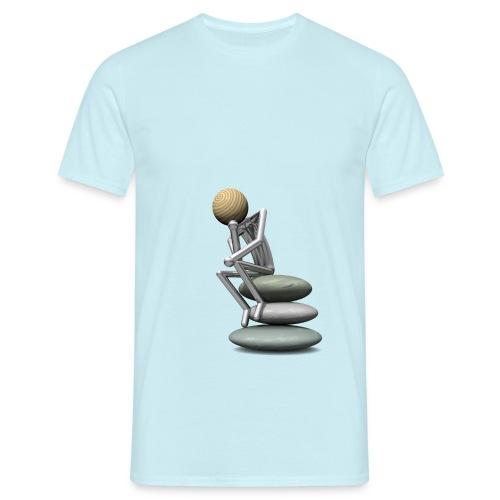 Holzkopf als Denker T-Shirts - Männer T-Shirt