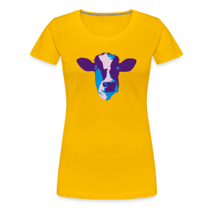 Cow, blue pop - Women's Premium T-Shirt