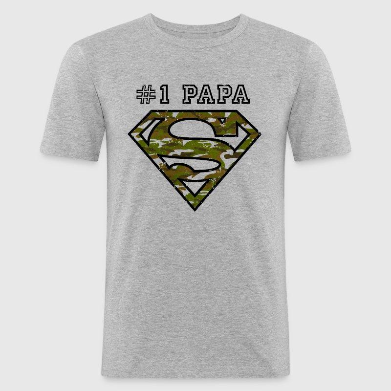 tee shirt superman super papa arm e spreadshirt. Black Bedroom Furniture Sets. Home Design Ideas