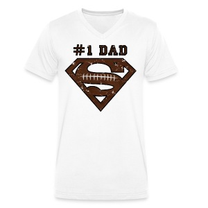 Superman Super Dad Football - Mannen T-shirt met V-hals