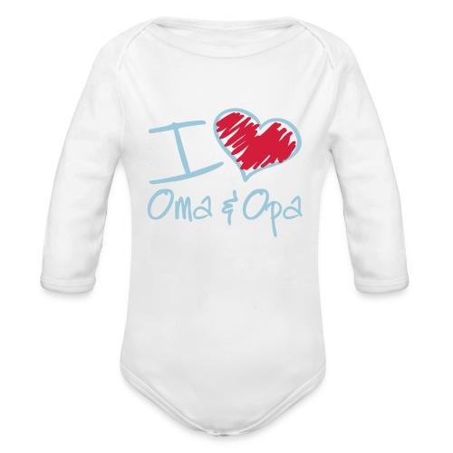 I love Oma & Opa - Baby Bio-Langarm-Body