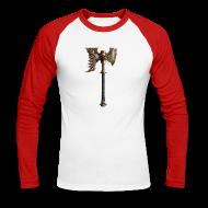 Langarmshirts ~ Männer Baseballshirt langarm ~ Warhammer Age of Sigmar Khorne Axe - Long Sleeve Baseball Shirt