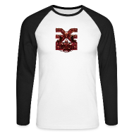 Langarmshirts ~ Männer Baseballshirt langarm ~ Warhammer Age of Sigmar Khorne 2 - Long Sleeve Baseball Shirt