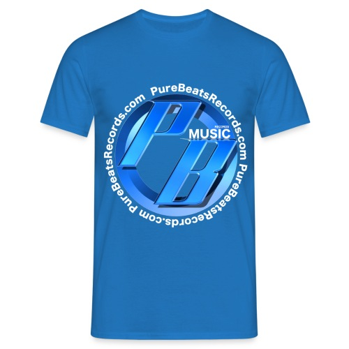 Blue Pure Beats Records T-Shirt - Men's T-Shirt