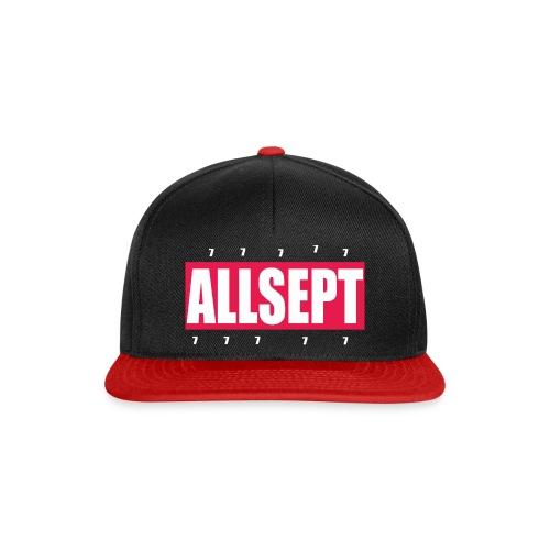 ALLSEPT SNAPBACK Rouge-Noir - Snapback Cap