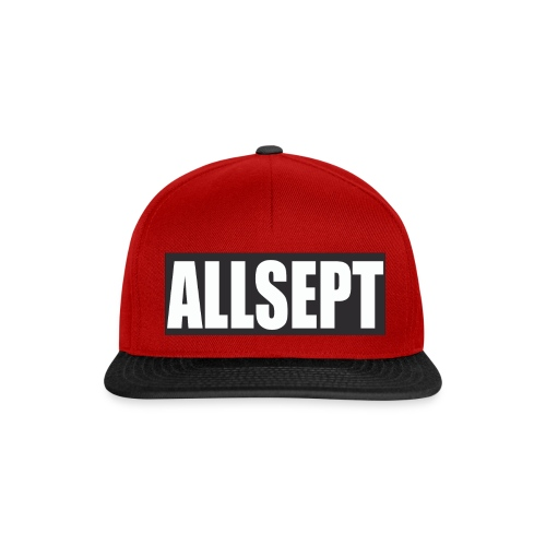 ALLSEPT SNAPBACK Rouge-Noir 2 - Snapback Cap