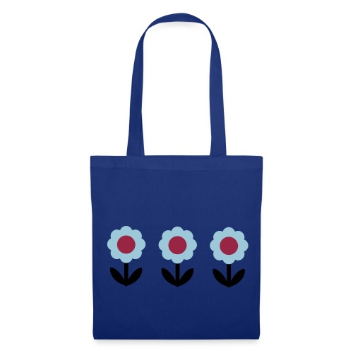 Sac fleur design rétro - Tote Bag