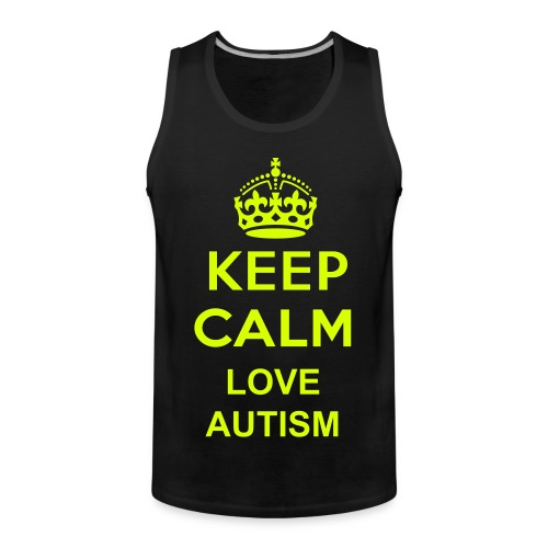 Keep calm love autisme  - Mannen Premium tank top