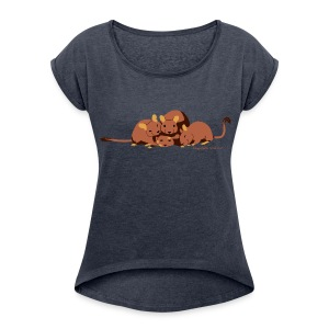Kuschelhaufen DHS - Frauen T-Shirt mit gerollten Ärmeln