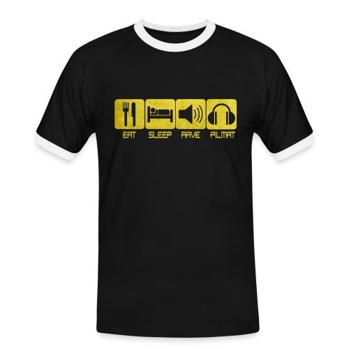 Eat Sleep Rave Pilmat T-shirt Contraste - T-shirt contrasté Homme
