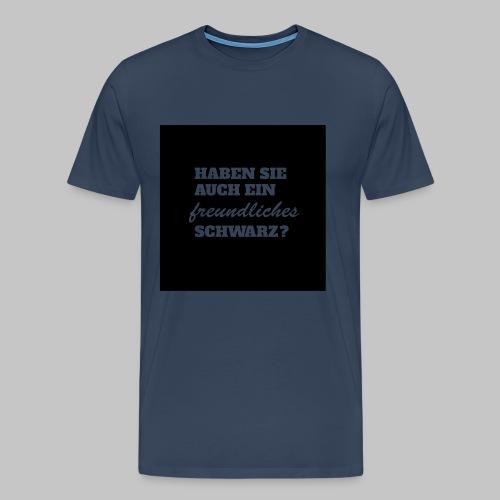 Freundliches Schwarz - Männer Premium T-Shirt