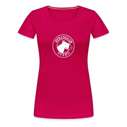 T-Shirt mit weißem Aufdruck - in beere, blau, schwarz, grün usw - Frauen Premium T-Shirt