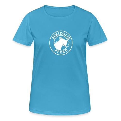 Funktions-Shirt mit Aufdruck in weiß. Gibt's aber nicht nur in rosa!  - Frauen T-Shirt atmungsaktiv