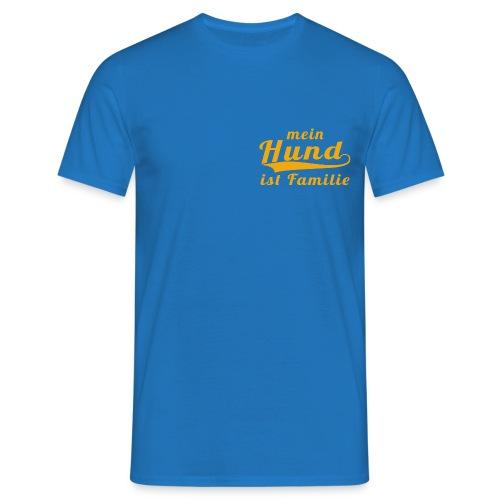 Männer T-Shirt: mein Hund ist Familie  (gold) - Männer T-Shirt