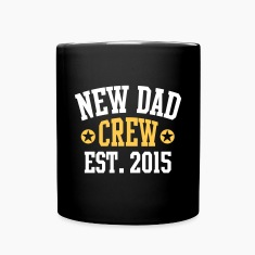 NEW DAD CREW Established 2015 2 Color Mugs & Drinkware