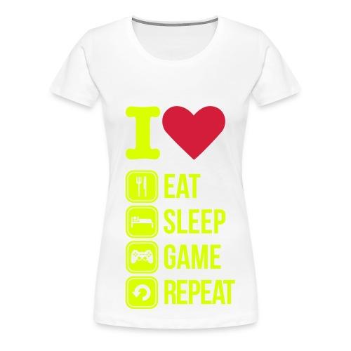 i love eat - Frauen Premium T-Shirt
