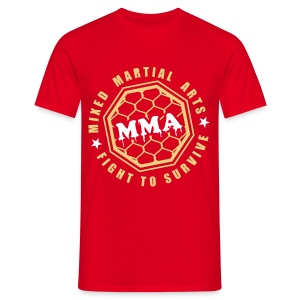 MMA Fight2Survive Red - Mannen T-shirt