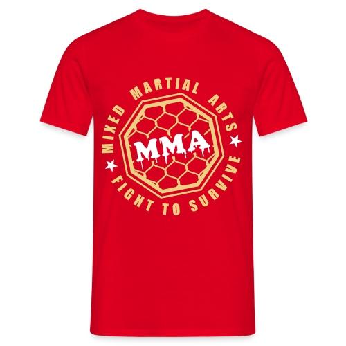 MMA Fight2Survive Red - Mannen T-shirt