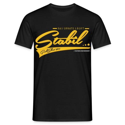 Das Update Läuft Stabil - Gelb - Männer - Männer T-Shirt