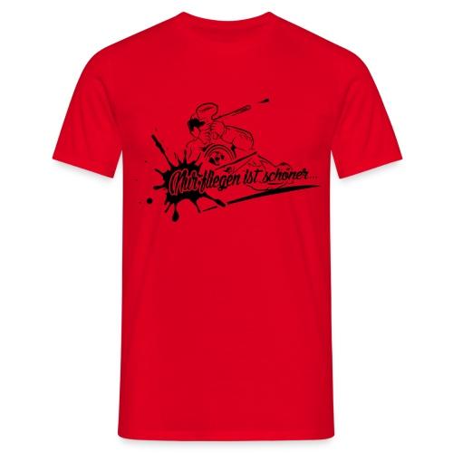Fliegen T-Shirt rot - Männer T-Shirt