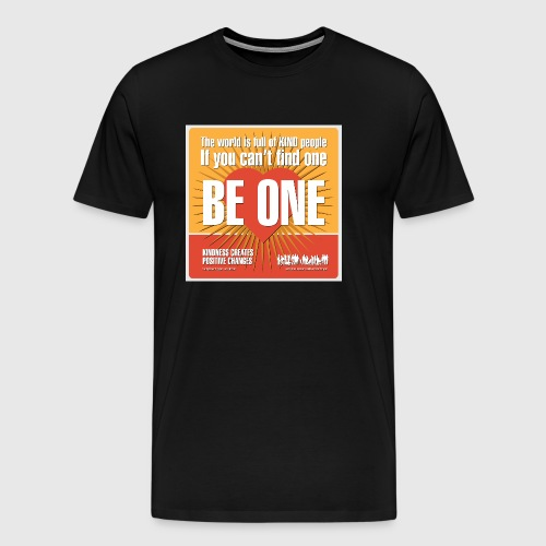 Men - tshirt - Be One - Herre premium T-shirt
