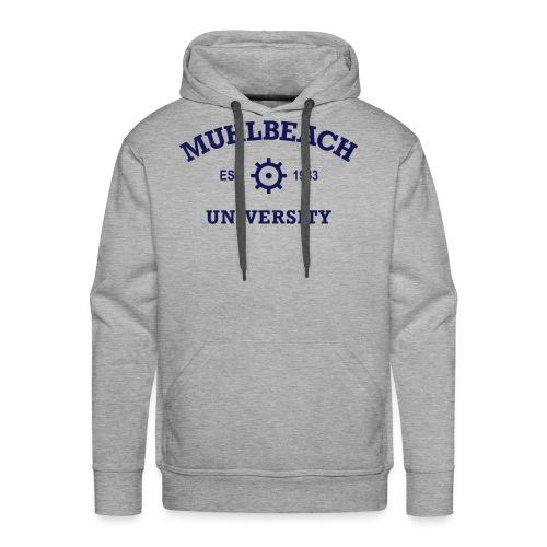 Sweat-shirt à capuche Premium pour hommes - Muhlbeach University Hoodie - Gray