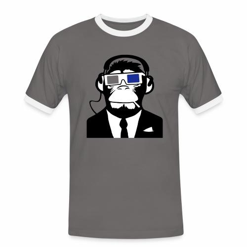 Soundmonkey - Männer Kontrast-T-Shirt