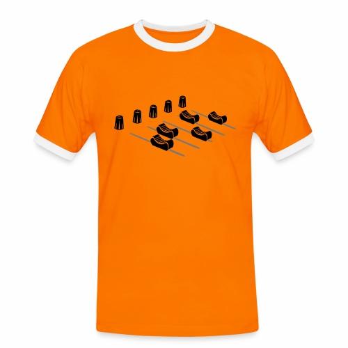 Mischpult - Männer Kontrast-T-Shirt