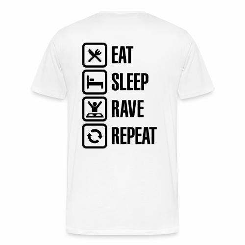 Eat, Sleep, Rave, Repeat - Männer Premium T-Shirt