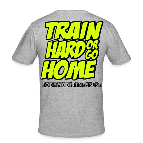Train hard - Slim Fit T-shirt herr