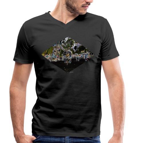 Saigon Street Shirt Men - Männer Bio-T-Shirt mit V-Ausschnitt von Stanley & Stella
