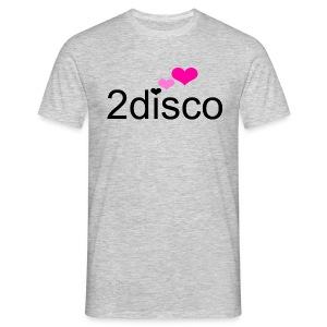 Plain Grey 2disco Men - Men's T-Shirt