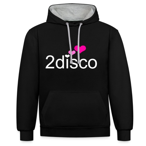 Black Hoody 2disco Women - Contrast Colour Hoodie