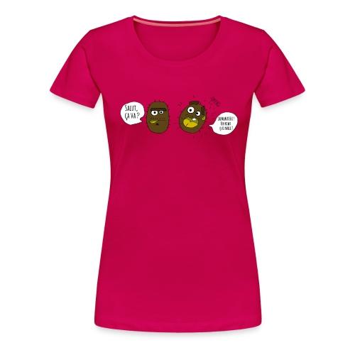 Le kiwi qui parle - T-shirt Premium Femme
