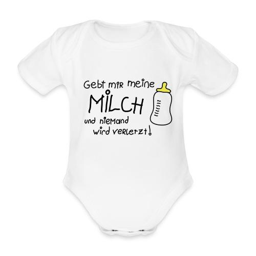 milch - Baby Bio-Kurzarm-Body