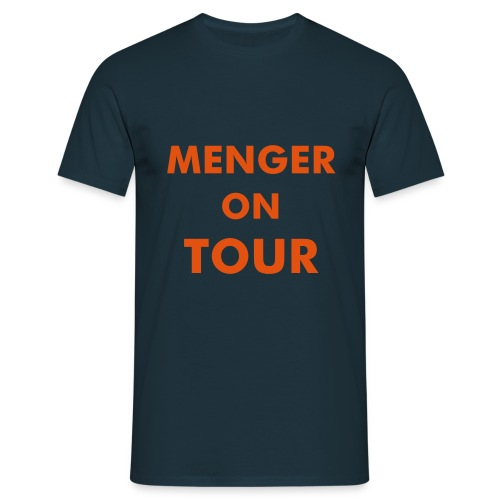 Navy/Orange - Männer T-Shirt