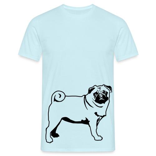 Mops fast lebensgroß - Männer T-Shirt