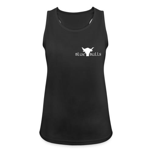 Blue Bulls Frauen Top schwarz - Logo weiss vorne klein (100% Polyester) - Frauen Tank Top atmungsaktiv