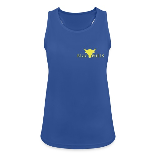 Blue Bulls Frauen Top blau - Logo gelb vorne klein (100% Polyester) - Frauen Tank Top atmungsaktiv