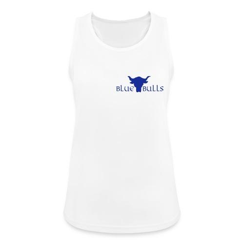 Blue Bulls Frauen Top weiss - Logo blau vorne klein (100% Polyester) - Frauen Tank Top atmungsaktiv