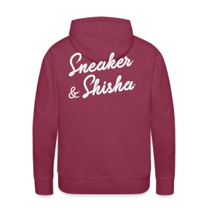 Sneaker & Shisha Premium Hoodie Burgundy (Flock) - Männer Premium Hoodie