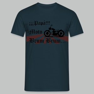 Papa Moto Brum Brum for adults - Men's T-Shirt