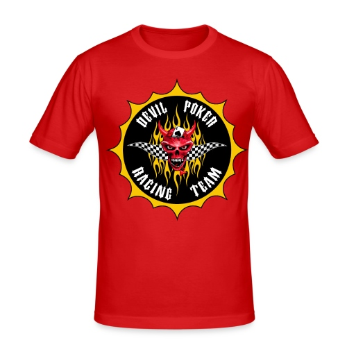 Devil Poker Racing Team - Men's Slim Fit T-Shirt