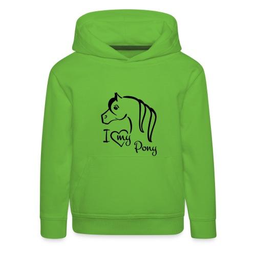 kids hoodie I ♥ my pony - Kids' Premium Hoodie