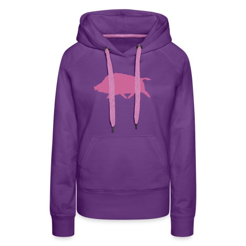 Wildschwein Pink Glitzer - Frauen Premium Hoodie