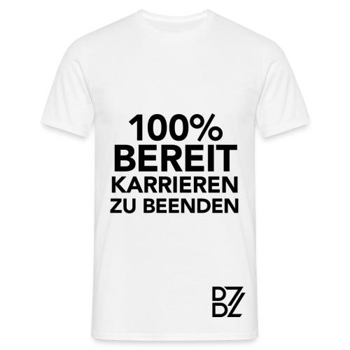 BenZon Shirt Einhundert Prozent Weiß - Männer T-Shirt