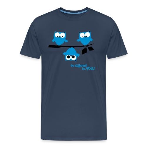Eulen – Be different! - Männer Premium T-Shirt